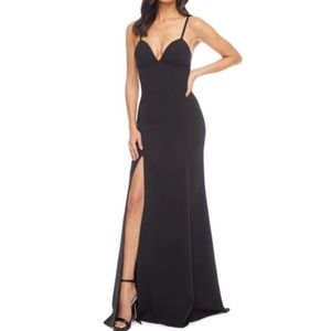 Dress The Population Black Floor Length Gown Dress